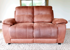 DELIVERY INCLUDED HARVEYS brand 2 seater suede fabric sofa