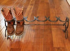 Custom Horse Shoe Boot Rack
