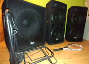 Like new Pro DJ Speaker & Sub + all cables system - great deal