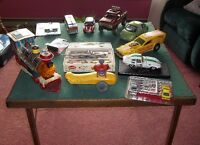 Collection metal die cast, press tin, wood, plastic toy cars etc