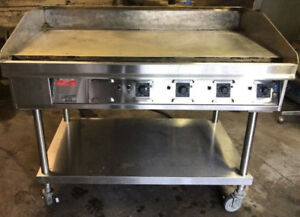 Used Commercial Thermostatic Electric Gridde Flat Top Grill 48""
