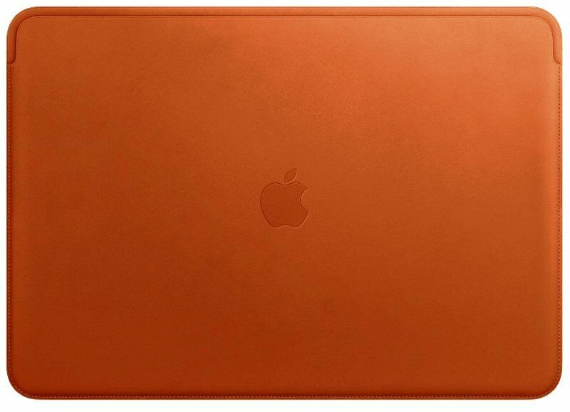 Apple Leather Sleeve for MacBook Pro 15-inch Laptop, Saddle Brown, Sealed box