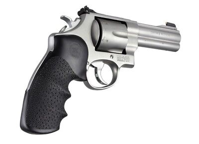 - Hogue Grip For S&W N Frame Round Butt W/ Finger Grooves - Full Size Grips 25000