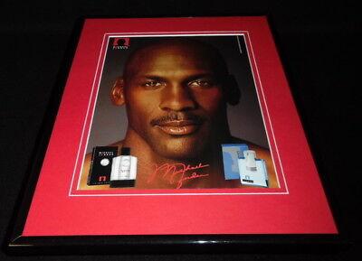 Michael Jordan 11x14 Facsimile Signed Framed 2004 Cologne Advertising Display