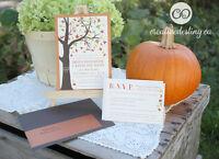 Custom designed & locally printed wedding invitations