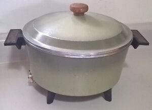 Vintage Oster Cast Aluminum Deep Fryer with Basket