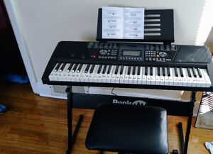 61 Key Digital Keyboard w/Stool and Stand & Piano Teaching App