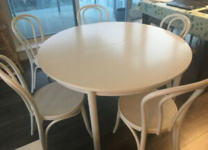 Ikea French Bistro Dining Kitchen Table Set