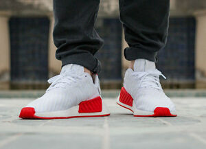 NMD R2 white/red