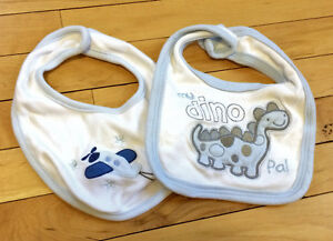 2 Small Baby Bibs