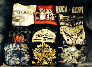 Lot  of  the coolest boys shirts!