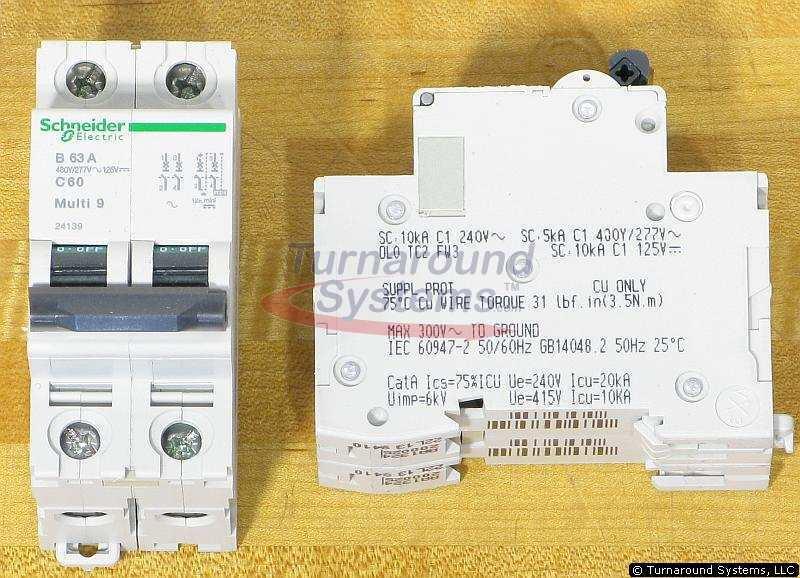 Square D MG24139 Schneider 24139 Breakers, 63 Amp, 480/277 VAC, 125 VDC, NEW