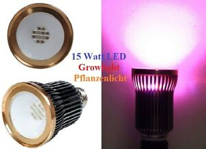15 watt cob led grow pflanzen lampe pflanzenlicht leuchte. Black Bedroom Furniture Sets. Home Design Ideas