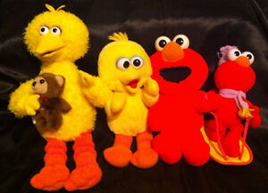 Sesame Street  BIG BIRD, ELMO assorted sizes plush