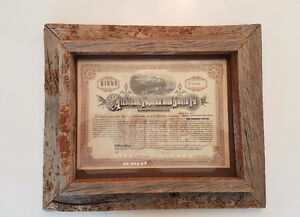 RAW wood picture frame
