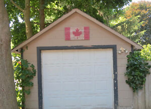 Canadian Flag  made of wood for garage or garden
