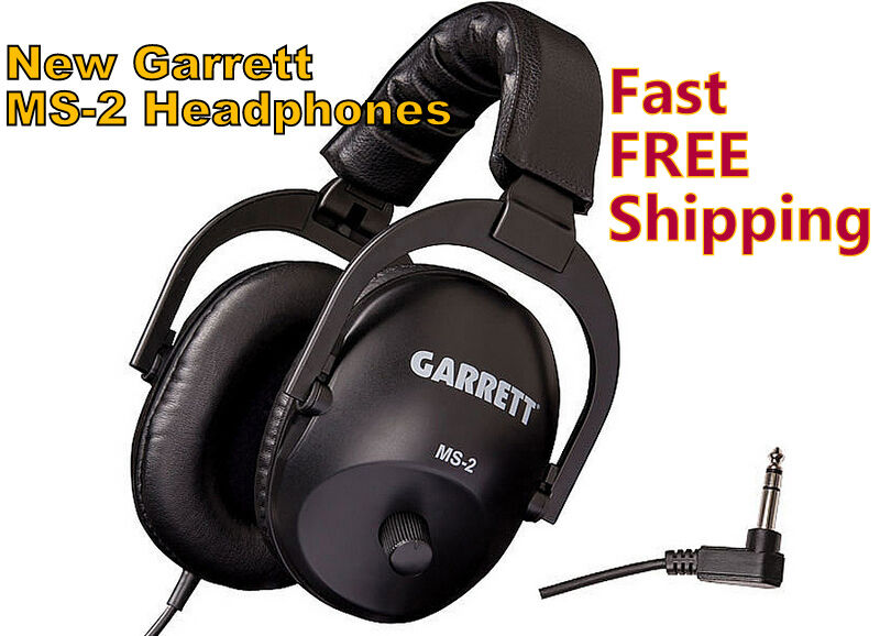 New Garrett MS-2 Headphones * Use with your Metal Detector Fast FREE Shipping