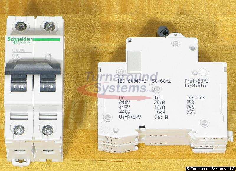 Schneider Electric 24337 Breakers, 16 Amp 2 Pole 440 VAC, NEW!