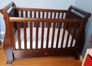 Boori Sleigh Cot, Change Table and Tallboy