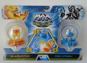 Max Steel Turbo Battlers Set of 2, ELEMENTOR vs MAX STEEL
