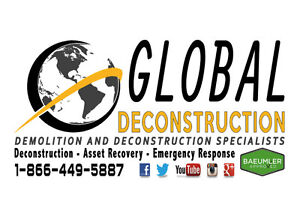 Demolition and Deconstruction Services - Barrie - 1-866-449-5887