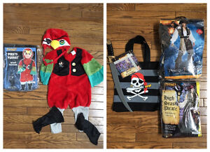 Pirate halloween costumes with pirate parrot London Ontario image 1