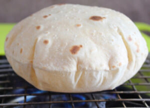 Home made fresh rotis/chapati using 100% whole wheat flour