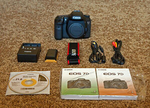 canon EOS 7D pro body with charger