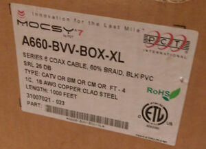 PCT RG6 Coaxial Cable - 1000ft box