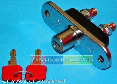 Diebstahlsicherungsschalter, 100 Ampere (24 Volt), Hauptschalter + 2 Schlüssel,  24 Volt 100 Amp