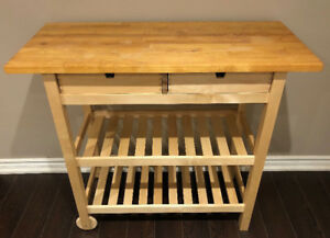 IKEA Wooden Kitchen Trolley with drawers and shelves