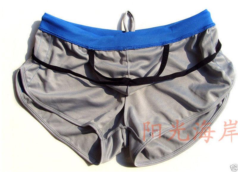 Mens Underwear Sport Running Pants GYM Boxer Briefs Trunk Shorts 5color S~XL
