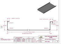 "Contractors -1.5"" standing seam metal roofing - rolled on site."