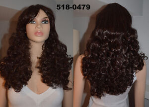 NEW: Deluxe Dark Brown Curly Cosplay Wig (519-0479)
