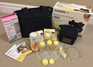 Medela Pump in Style Advanced Tote with Many Extras Included