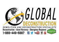 Demolition and Deconstruction Services - London 1-866-449-5887