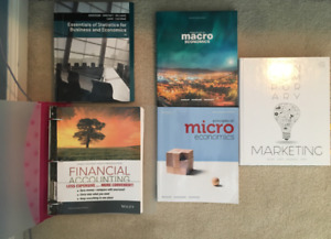 Business textbooks, marketing, accounting, economic, statistics