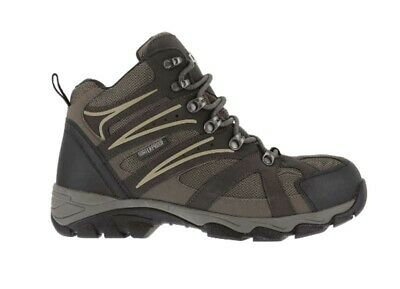 IRON AGE Surveyor Brown Leather Mesh Steel Toe Hiker Work Boots IA5200 Men 12 M