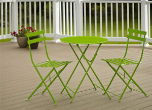 COSCO Outdoor Living All Steel 3-Piece, Folding Bistro Patio