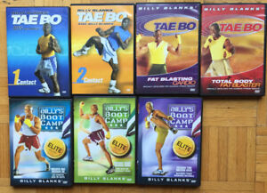 7 DVD d'exercises physique : Tae Bo par Billy Blank