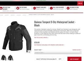 Motorbike jackets and trousers