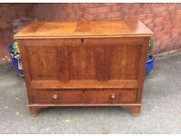 Georgian Vintage Oak Coffer/ Blanket Box