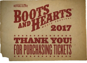 8 GA Boots and Hearts Tickets + RV Camping