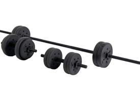 25kg Opti Vinyl Barbell and Dumbbell Weight Set Brand New