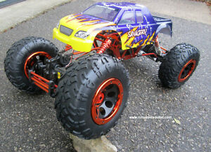 RC Electric Rock Crawler Truck 1/8 Scale 4 Wheel steering, 4WD, Peterborough Peterborough Area image 6