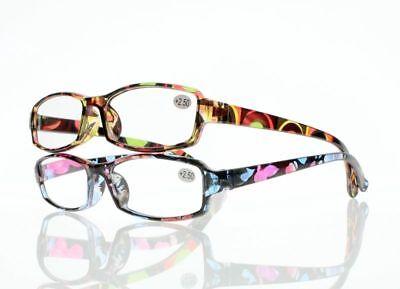 Women Rainbow Flower Stylish Antiskid Comfy Reading Glasses Reader +1.0 ~ +4.0