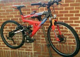 Raleigh Fuego Disk Brake Dual Suspension Bike
