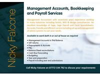 Bookkeeping and Management Accounts services