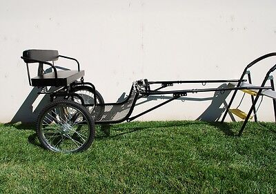 "New Easy Entry Horse Cart - Mini Size/Metal Floor - With 48""/55"" Shafts - NIB"