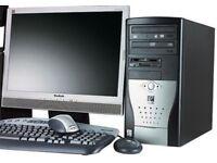 ASUS Visto PC AMD Athlon 64 X2 3800+ Dual Core 2GB Ram 250GB HDD DVD RW Tower Desktop WIFI Windows 7